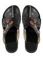 Fox Shoes % 100 Deri Dolgu Topuk Terlik Siyah